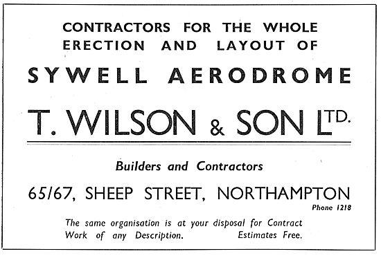 Sywell Aerodrome Facilities - Construction Contractors T.Wilson