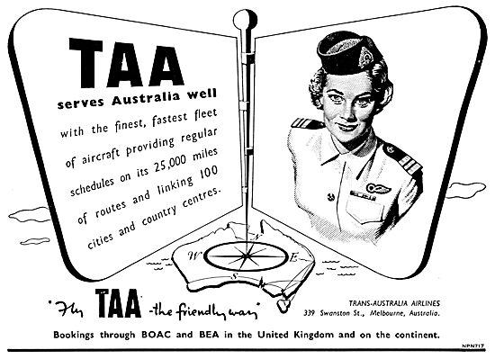 TAA. Trans Australia Airlines