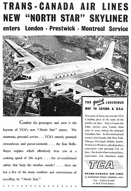 TCA: Trans-Canada Airlines: