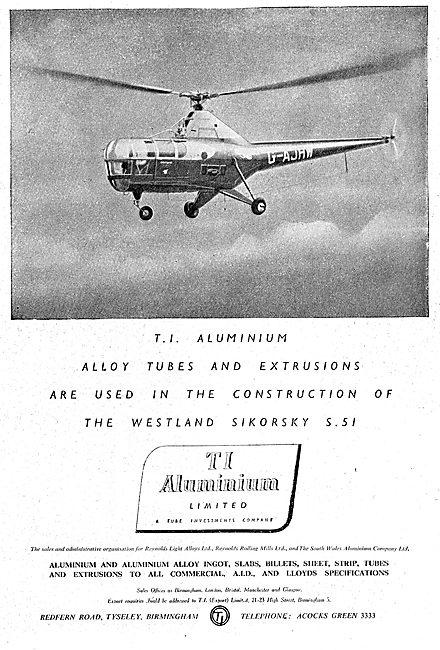 T.I. Aluminium : Billets, Slabs, Founders 1949