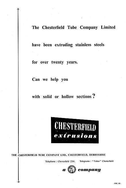 The Chesterfield Tube Co : Extrusions