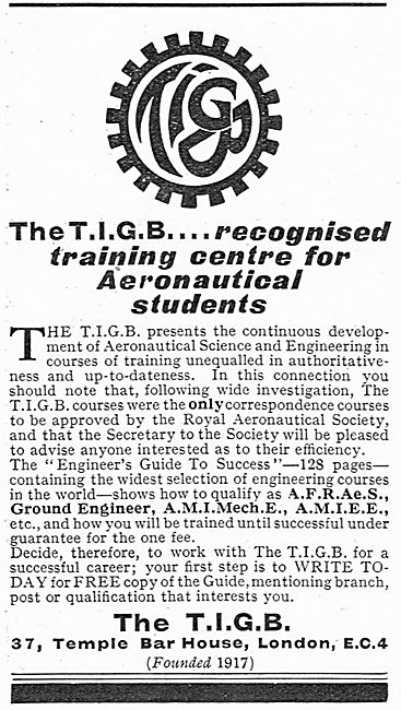 TIGB Training Courses For Aeronautical Students