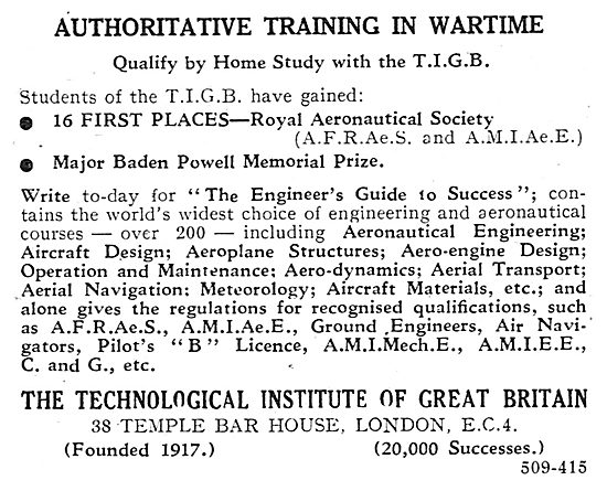 The Technological Institute Of Great Britain - TIGB