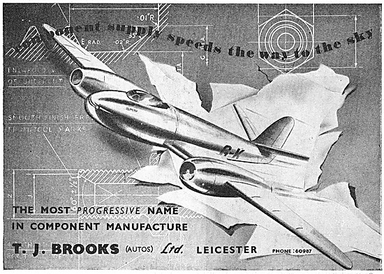 T.J.Brooks Leicester  - Aircraft Parts Manufacturers. AGS