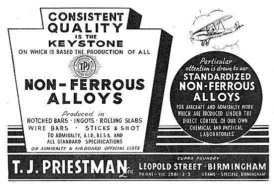 T.J.Priestman Ltd - Non Ferrous Alloys