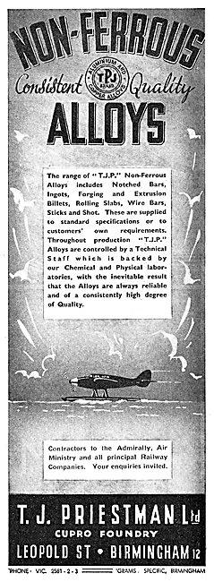 T.J.Priestman Ltd.. Non Ferrous Alloys