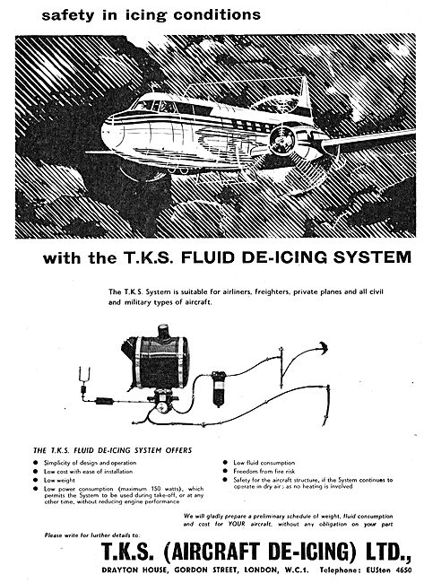 TKS Aircraft De-Icing Systems