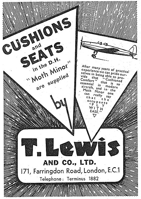 T.Lewis Cushions & Seats For Aircraft