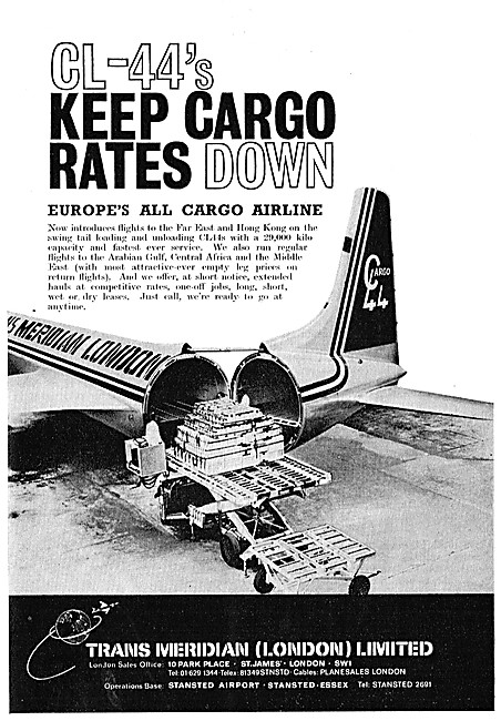 Transmeridian Air Cargo. TMA CL-44