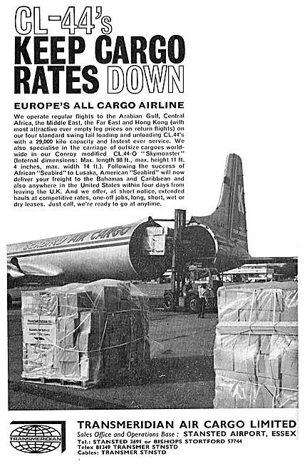 TMA. Transmeridian Cargo Airline. CL-44