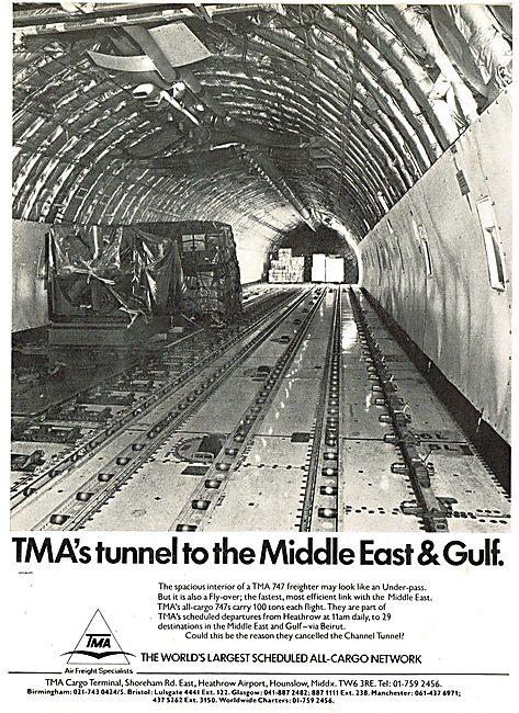 Transmeridian Air Cargo. TMA. T.M.A.