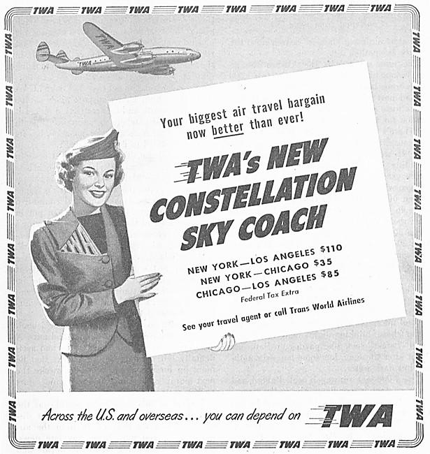 TWA. Trans World Airlines