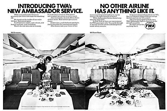 TWA Trans World Airlines 1972