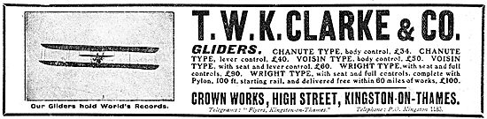 T.W.K. Clarke - Aeroplanes, Gliders,Propellers & Accessories