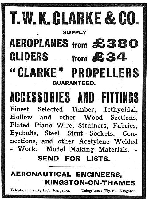 T.W.K. Clarke Aeroplanes, Propellers & Accessories