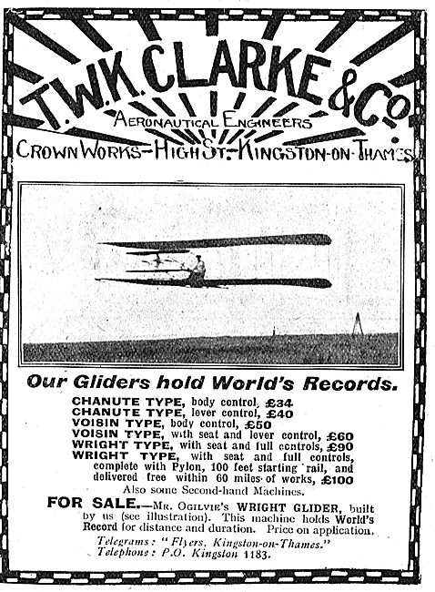 T.W.K. Clarke's Gliders Hold World's Records