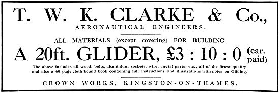T.W.K.Clarke & Co - Materials For Aeroplane Constructors