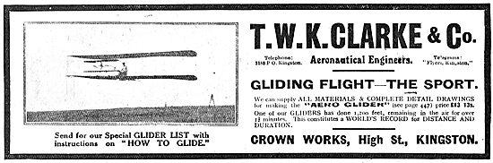 T.W.K. Clarke. Gliding Flight - The Sport
