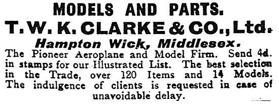 T.W.K.Clarke & Co: Aircraft & Aircraft Models