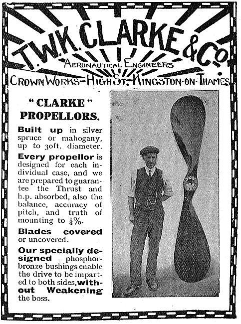 T.W.K. Clarke - Clarke Aeroplane Propellors
