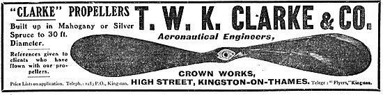 T.W.K. Clarke Clarke Propellers
