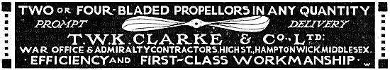 Prompt delivery On 2 Or 4 Blade Propellers From T.W.K. Clarke