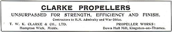 T.W.K. Clarke Aeroplane Propellers
