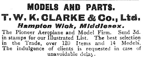 T.W.K.Clarke Model Aircraft Accessories