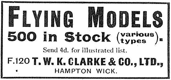 T.W.K. Clarke Model Aircraft In Stock