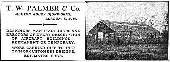 T.W.Palmer - Merton Abbey Ironworks. Aircraft Buildings