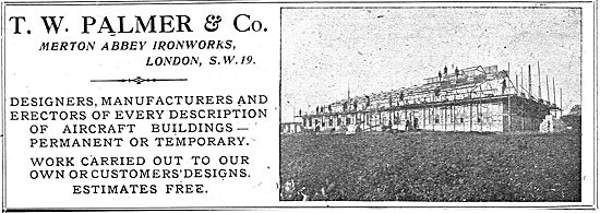 T.W.Palmer - Permanent Or Temporary Aircraft Buildings