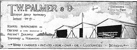T.W.Palmer - Aircraft Hangars To Customers Designs