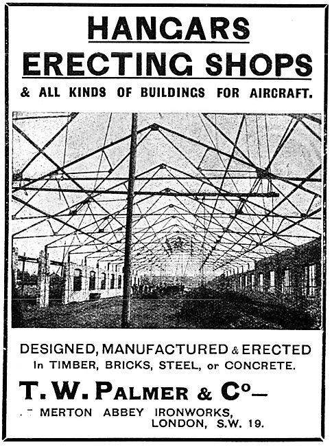 T.W.Palmer - Hangars & Aircraft Erecting Shops 1917