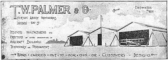 T.W.Palmer Airfield Buildings. Hangars & Sheds