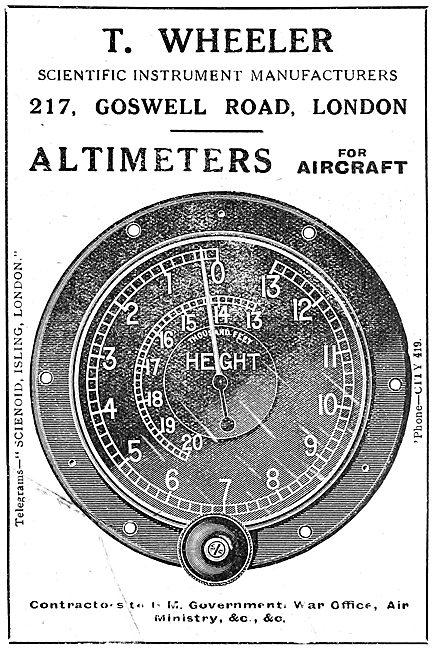 T.Wheeler Scientific Instruments. Aircraft Altimeter