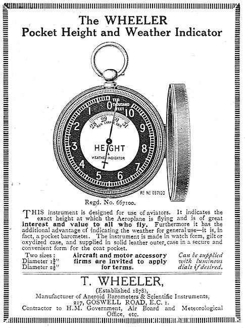 T.Wheeler Pocket height & Weather Indicator