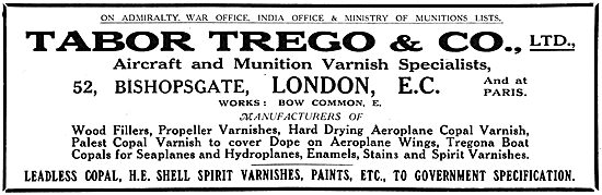 Tabor Trego - Varnishes For Aircraft & Munitions