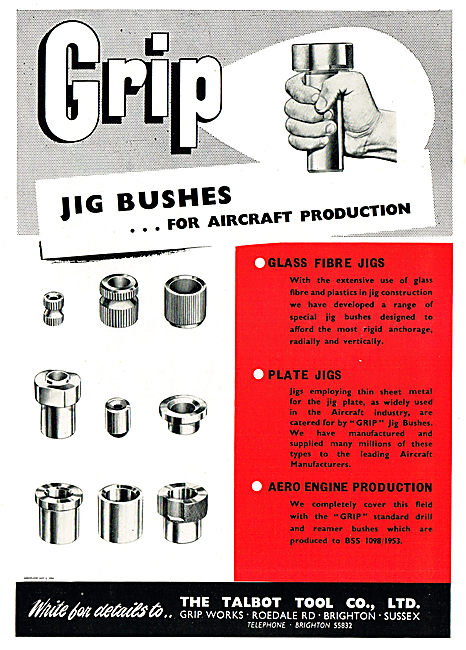 The Talbot Tool Co Jig Bushes For Aircraft Production