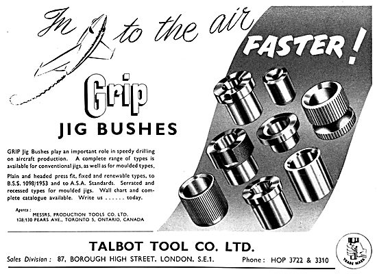 Talbot Tool GRIP Jig Bushes