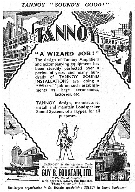 Tannoy Public Adress & Broadcast Equipment 1947