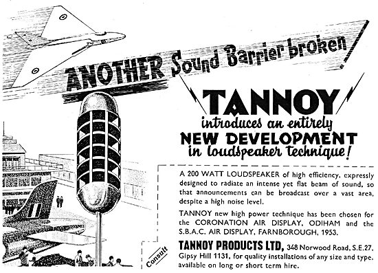 Tannoy Products - Public Adress & Broadcast Equipment
