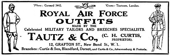 Tautz & Co Military Tailors. Royal Air Force Outfitters