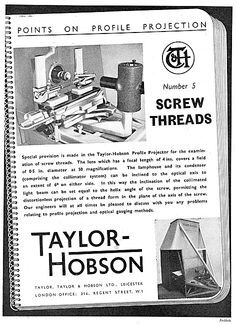 Taylor Hobson Profile Projectors