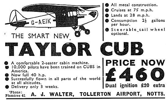 Taylor Cub - A.J.Walter Tollerton