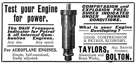 Taylors Aluminium & Brass Works. Compression Tester