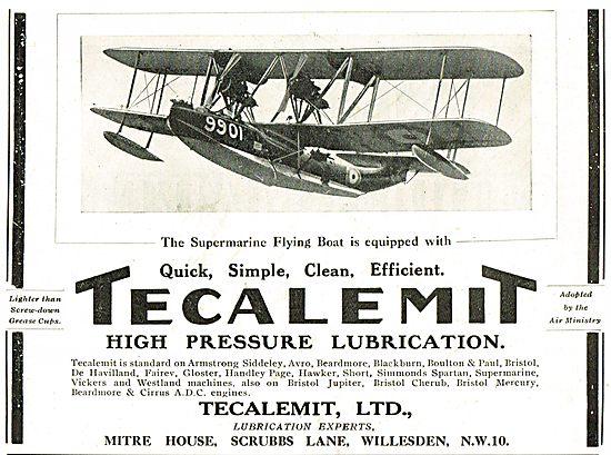 Supermarine Flying Boats Use Tecalemit High Pressure Lubrication