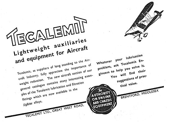 Tecalemit Lubrication & Filtration Systems For Aircraft