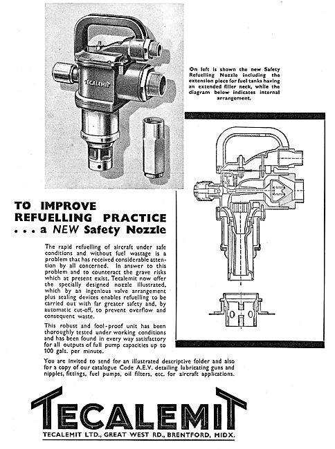 Tecalemit Aircraft Refuelling Safety Nozzle