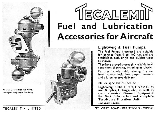 Tecalemit Fuel & Lubrication Filtration Systems For Aircraft