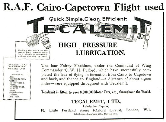 Tecalemit High Pressure Lubrication: Lighter Tha Screw-Down Cups